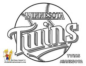 08 Minnesota Twins Baseball Coloring At Pages Book For Kids  sketch template