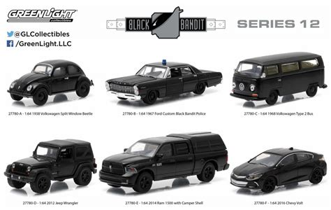Diecast Ford Bronco 1970 Skala 64 Black Bandit By Greenlight ブラック バンディット greenlight