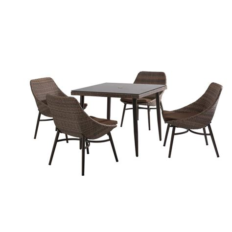 Woodbury 7 Patio Dining Set by Sunjoy 7 Patio Dining Set 110201024 The