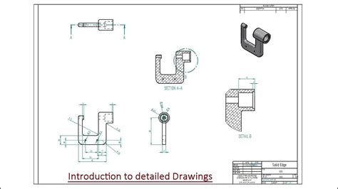 sketch pattern in solid edge introduction to detailed drawings solid edge st9 youtube