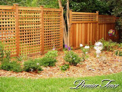 lattice garden square fence design  constructed