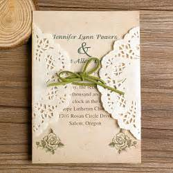 Diy Rustic Wedding Invitations Diy Lace Wedding Invitations Starting From 1 79 At Elegantweddinginvites Com