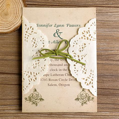 Diy Lace Wedding Invitations