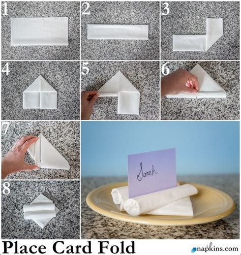 How To Fold Paper Napkins For A Wedding - place card napkin fold how to fold a napkin