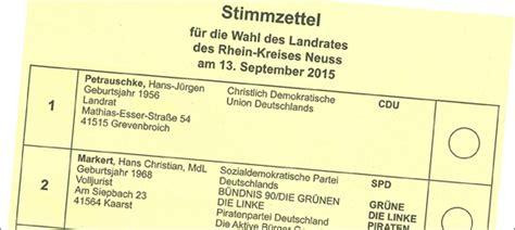 Antrag Briefwahl Neuss Dormagen News Archiv