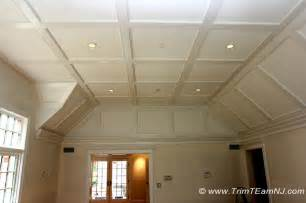 Wainscoting Types - coffered ceilings and beams traditional bedroom by trim team nj