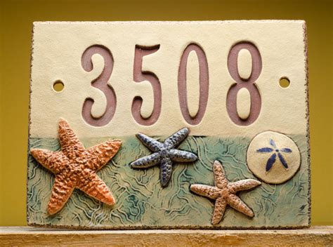 Handmade House Numbers - handmade ceramic house number sign by clay