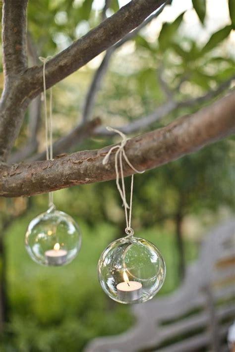 Hanging Garden Decor Glass Hanging Tealights For Garden Wedding Decoration 893368 Weddbook