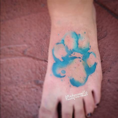 watercolor tattoos paws watercolor pawprint