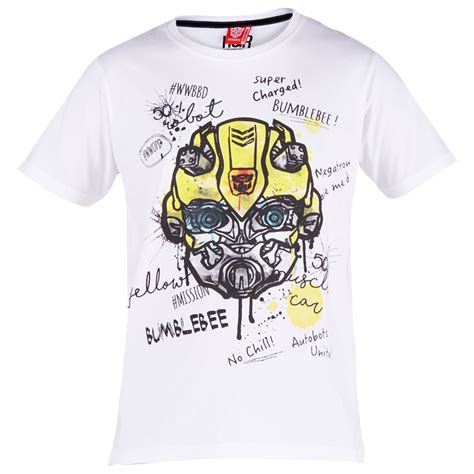 T Shirt Transformer 5 Bumblebee transformers bumblebee charge t shirt white