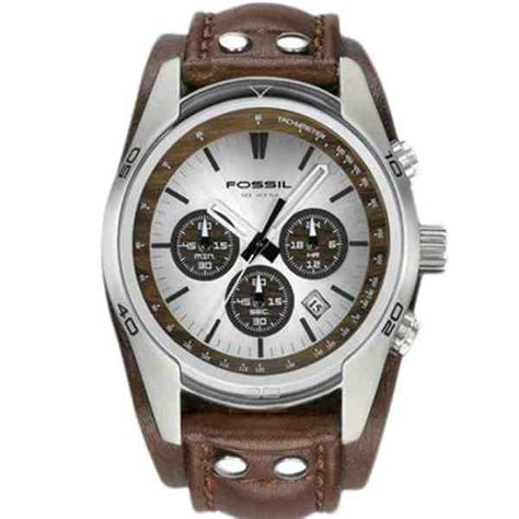 Jam Wanita Fossil Ch 3032 Original by Jual Fossil Ch2565 Coachman Chronograph Brown Leather