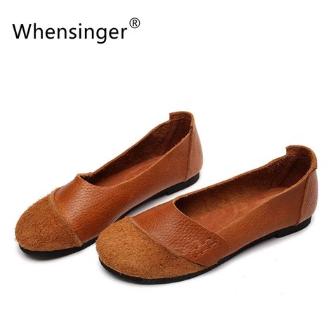 flat shoes brands whensinger 2017 new arrival shoes slip on