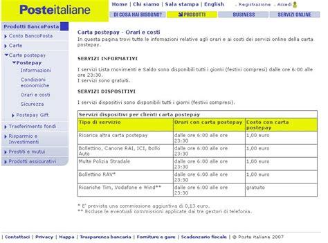 banco posta on line pagamento bollo auto poste italiane