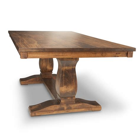 seville pedestal solid wood table woodcraft