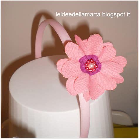 fiori di stoffa per capelli le idee della marta cerchietti fiori di stoffa