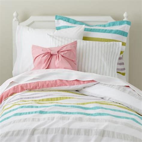pastel colored bedding the land of nod bedding pastel striped bedding in