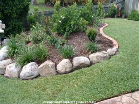 rocks for garden borders rock landscape edging wallpapers gardening pinte