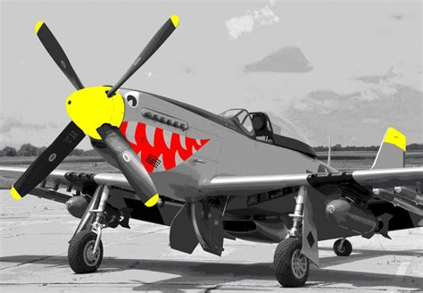 mustang fighter plane p51 mustang fighter plane pop paint by number kit