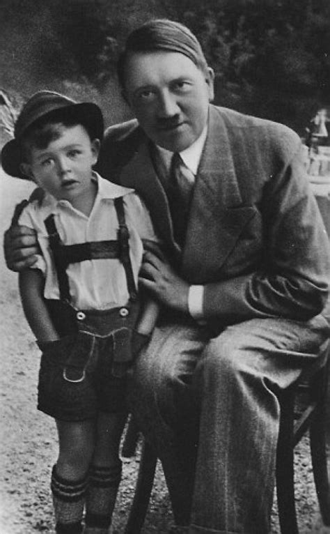 Nazi poster child Gerhard Bartels who posed with Adolf