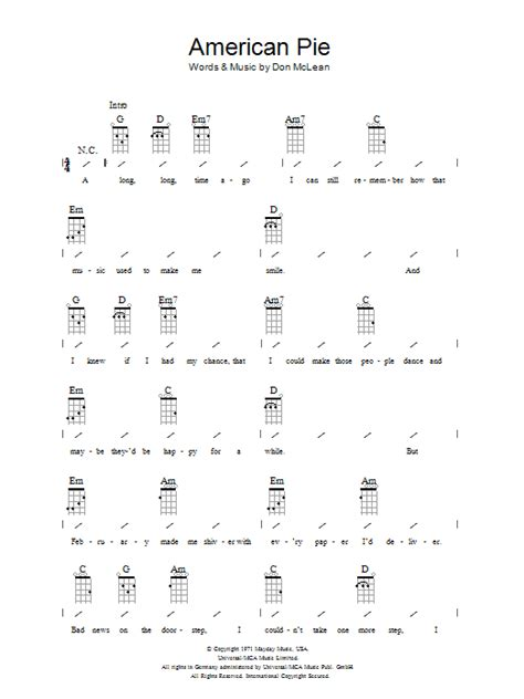 guitar tutorial american pie american pie sheet music direct