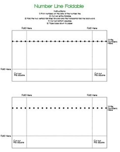 interactive number line printable foldable number line for interactive math journal