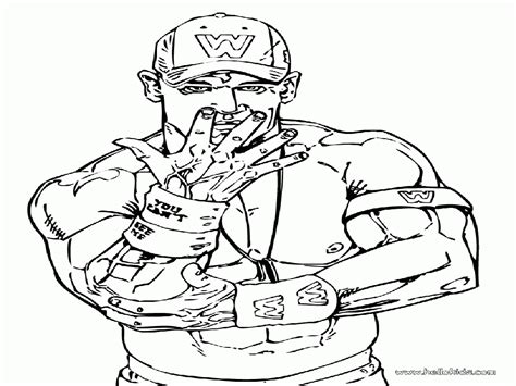 wwe john cena coloring pages coloring home