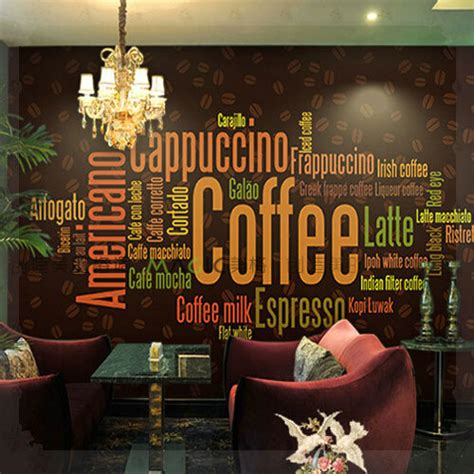 Coffee Shop Wallpaper Murals | large photo wall murals wall paper personality coffee shop