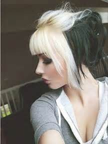 half colored hair edgy chic hairstyles for pretty designs