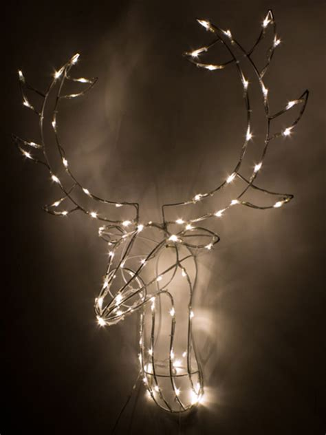 light up stag head reindeer 80 led wall mount indoor