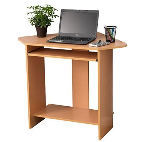 fineboard home office compact corner desk beige small