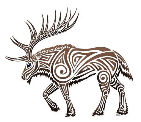 moose tribal tattoo moose tribal pencil and in color moose tribal