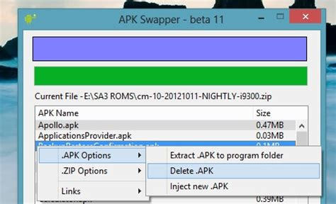how to delete apk files how to customize roms with apk swaper