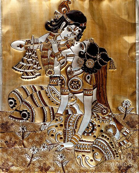 How To Paint A Wall Mural indian god radha krishna painting by anannya chowdhury