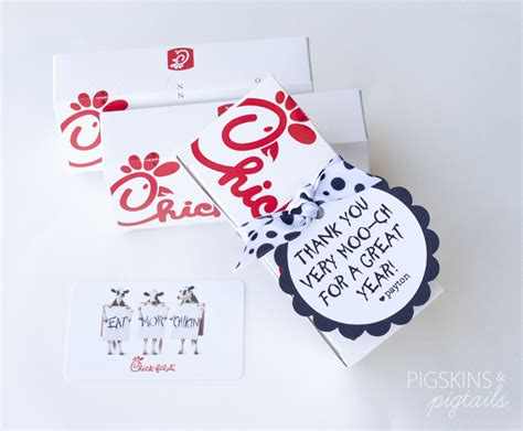 Chic Fil A Gift Cards - chick fil a gift tags