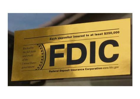 Fdic Background Check Fdic Bank Stickers Depositor Insured To 250 000 U S