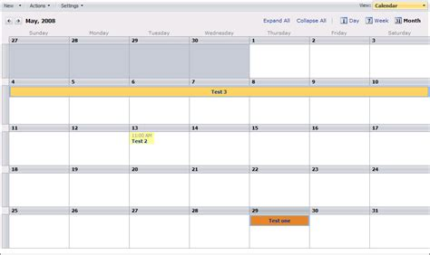 design calendar in java adding color to sharepoint 2007 calendar moss the regime