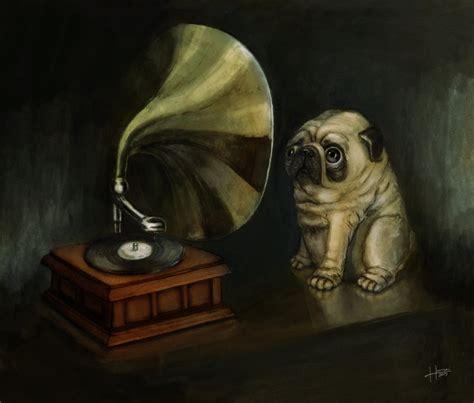 pug voice pug and his master s voice by hankai on deviantart