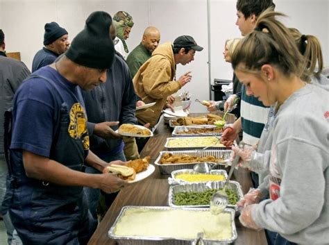 Libertyville Food Pantry by Kitchen Serving Food In Homeless Shelter Stock Photo