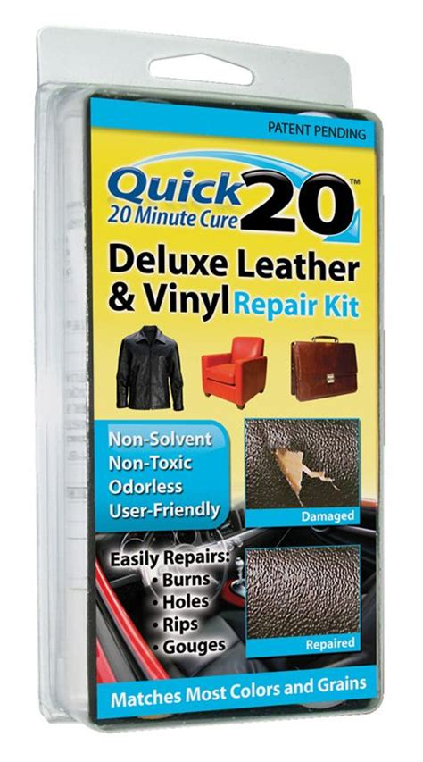 vinyl upholstery repair kit quick 20 deluxe leather and vinyl repair kit leather and