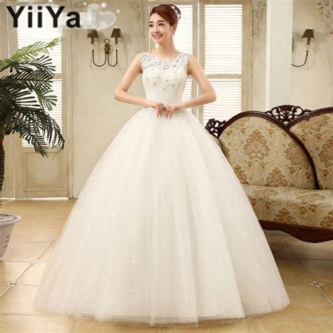 Frocks And Gowns Bridal by Free Shipping Yiiya 2016 New Cheap White Wedding Gowns
