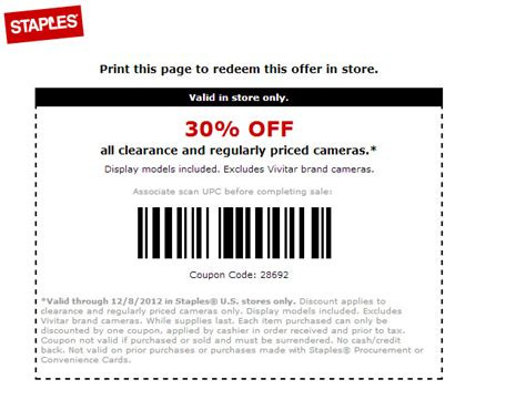 discount voucher usc dead all cameras on sale for 30 percent off at staples