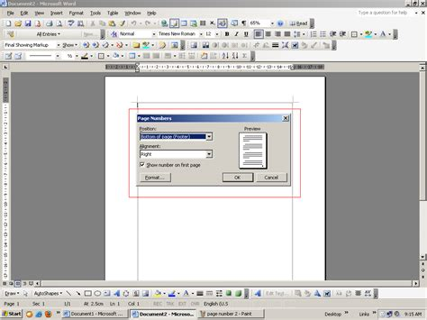 format mengetik skripsi cara memasukkan membuat nomor halaman insert page