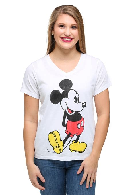 Tshirt Mickey From Ordinal Apparel womens mickey mouse classic pose burnout v neck t shirt