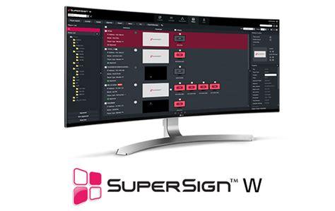 Lg Supersign Software Software Information Display Business Lg Global Lg Supersign Templates