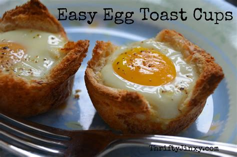 Travel Toaster Breakfast Recipe Easy Egg And Toast Cups Thrifty Jinxy