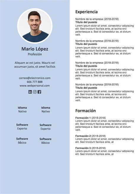 Plantilla De Curriculum Catala 5 plantillas de curr 237 culum para descargar gratis infojobs