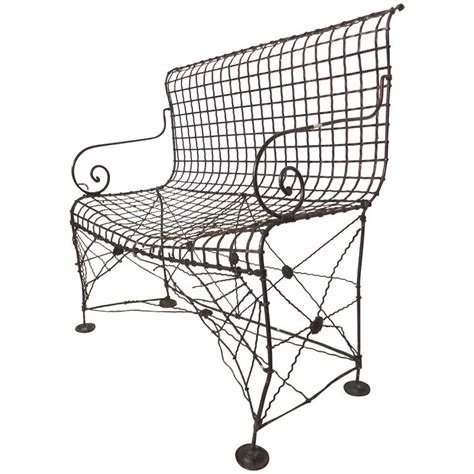wrought iron bench for sale decorative wrought iron bench for sale at 1stdibs