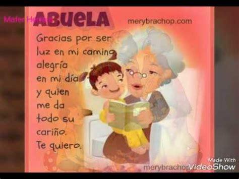 imagenes de amor para mi abuelita poemas para la abuelita d youtube