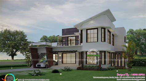 unique modern home design 5 bhk unique modern home plan kerala home design