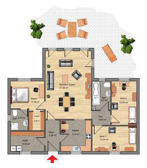 Winkelbungalow Grundriss 5 Zimmer by Grundriss Bungalow 5 Zimmer 3d Emphit